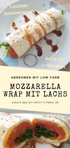 Wraps from mozzarella wraps? This can be used to conjure up light summer low carb snacks. This mozzarella wrap with salmon and arugula is wrapped in foil and is practical for on the go, at university, Tilapia Recipes, Salmon Recipes, Fish Recipes, Low Carb Recipes, Healthy Eating Tips, Healthy Nutrition, Fish Salad, Low Carb Breakfast, Finger Foods