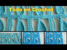 Blusa de flores punto Edbralda en crochet - fantasía en crochet y tunecino, talla M a G Parte 2 - YouTube