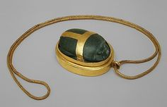 Heart Scarab of Hatnefer -- New Kingdom, Dynasty 18 -- Early reign of Thutmose II -- Circa BCE. Thebes, Sheikh Abd el-Qurna -- Tomb of Hatnefer and Ramose (TT -- Mummy of Hatnefer -- Metropolitan Museum of Art Ancient History, Art History, Ancient Aliens, Ancient Egyptian Jewelry, Egyptian Symbols, Egypt Jewelry, Ancient Artifacts, Ancient Civilizations, Jewelry Gifts