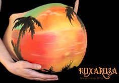 sunset bellypaint