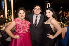 Pin for Later: Modern Family's Genetically Blessed Cast Members Strut Their Stuff at the SAG Awards Raini Rodriguez, Rico Rodriguez, and Ariel Winter