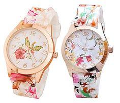 Mixeshop 2-pack Women Silicone Printed Flower Causal Quartz Wrist Watches MIXESHOP http://www.amazon.com/dp/B00U62KJCQ/ref=cm_sw_r_pi_dp_g2vfvb0WDF0RY