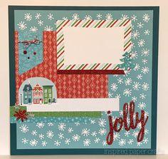 City Sidewalks - Jolly Christmas Layout  www.inspiredpapercrafts.com
