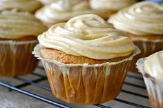 Pumpkin Carrot Cupcakes with Pumpkin Cream Cheese Frosting