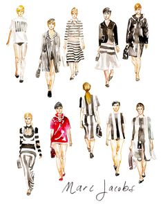 Marc Jacobs SS13 watercolors