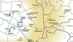 Carte des fablabs du Grand Paris (JDD)