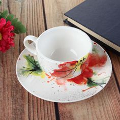 Show details for Beauty in Bloom Teacup and Saucer--174.109.254.253