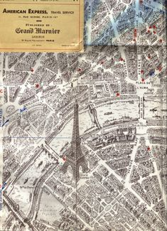 vintage paris map 2