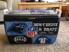 Fraternity Coolers, Frat Coolers, Nola Cooler, Cooler Painting, Keep Cool, Carolina Panthers, Geek Stuff, Diy Crafts, Hand Painted