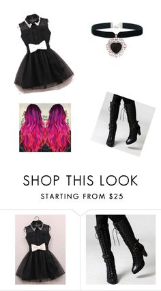 """""""Creepypasta (Y/N)"""" by zane-senpai on Polyvore featuring FOXCiTY and Rock 'N Rose"""