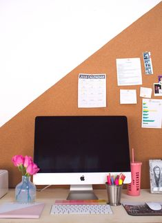 Easy DIY Bulletin Board (Any Shape or Size) – A Beautiful Mess