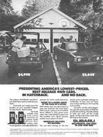 Subaru Hatchback 1980 Ad Picture