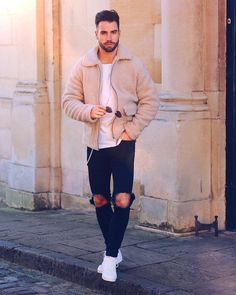 Style by @chezrust  Via @streetfitsgallery  Yes or no?  Follow @mensfashion_guide for dope fashion posts!  #mensguides #mensfashion_guide