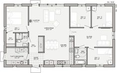 Like the kids rooms but not good master Floor Plan Drawing, Architectural House Plans, House Floor Plans, My Building, Future House, Sweet Home, Villa, Layout, Flooring