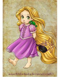 子供時代のディズニープリンセスたちを描いたファンアートが素敵すぎる!                                                                                                                                                                                 もっと見る