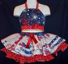 CuSTOM NATiONAL PATRiOTiC GLiTZ PAGEANT CASUAL WeAR 3T 4T in Clothing, Shoes & Accessories, Kids Clothing, Shoes & Accs, Girls Clothing (Sizes 4 & Up)