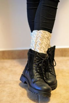 Cable Knitted Leg WarmersKnitted unisex Leg WarmersKnit by UpRo