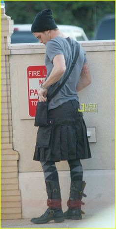 A man in a skirt is impossible not to like - Cam Gigandet
