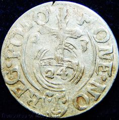 POLAND 1623 Silver 3 POLKER 1/24 Thaler sku #PL16 17th Century, Poland, Medieval, Coins, Silver, Ebay, Rooms, Mid Century, Middle Ages