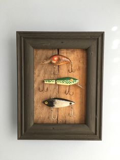 Vintage Fishing Lure Shadowbox
