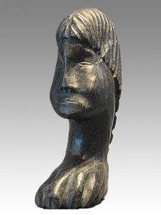 """Head and Claw by Inuit artist Salamonie Pootoogook, MIA Museum Of Inuit Art Gallery, Style: Abstract Art,  Location: Qamani'tuaq (Baker Lake),  Year: 2007,  Material: Stone,  Dimensions: H 10"""" X W 3"""" X D 6"""" $1200"""
