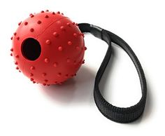 Nibble Pet Products Durable Rubber Ball with Strap Rope Handle for Obedience Training, Tug of War, or Easy Throw for Dogs Puppies, Promotes Good Behavior as a Reward Tug Of War, Pet Products, Dog Toys, Dogs And Puppies, Behavior, Balls, Image Link, Handle, Training
