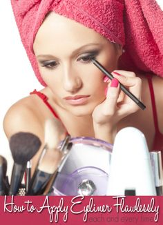 How to Apply Eyeliner All Things Beauty, Beauty Make Up, Hair Beauty, How To Apply Eyeliner, How To Apply Makeup, Applying Eyeliner, Perfect Eyeliner, Applying Makeup, Beauty Secrets