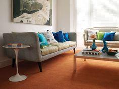 Brockway Carpets Solar - Tangerine