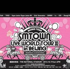 Girls' Generation, TVXQ, Super Junior, EXO, TASTY & more to perform at 'SM TOWN Live World Tour III in Beijing' | allkpop.com