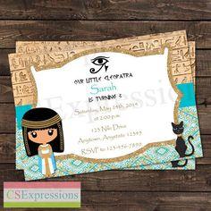 Cleopatra Egyptian Birthday Party Invitation