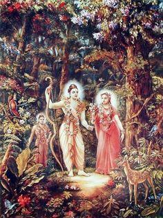 Rama and Sita from the Ramayana