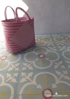 One of Sadus Tiles favorite motifs K-30 in soft pastel colors