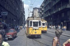 Here's a collection of the post-war color pictures of Budapest, Hungary. Colorful Pictures, Old Pictures, Anno Domini, Budapest Travel, Light Rail, Commercial Vehicle, Budapest Hungary, Historical Photos, Around The Worlds
