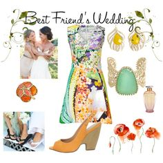 Best friends wedding, created by kathyborie7 on Polyvore