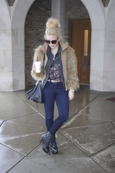 Andrea from Blonde Bedhead in J Brand jeans