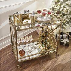 Brass Bar Cart, Gold Bar Cart, Metal Bar Cart, Home Bar Decor, Bar Cart Decor, Ikea Bar Cart, Diy Bar Cart, Apartment Bar, Detroit Apartment