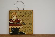 Santa Claus On A Vintage Chinese Checkers Board by Ramshackles