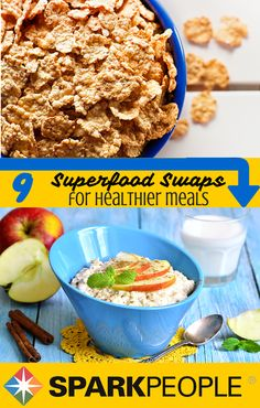 Eat this not that--swap these 9 superfoods for foods you regularly eat and you will have a healthier meal in a flash!