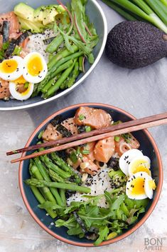 7 Top Ingredients For Cancer Fighting Smoothie Recipes Vegan Bowl Recipes, Raw Food Recipes, Healthy Recipes, Poke Sushi Bowl, Plats Healthy, Dinner Bowls, Happy Foods, Food Inspiration, Clean Eating