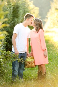 orchard engagement session   True Foundation
