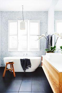 Glacier Grey Glass Herringbone Mosaic H O M E In 2019 regarding dimensions 1312 X 1920 Herringbone Tile Bathroom - Bath room tiles can be bought in all Bathroom Windows, Bathroom Renos, Laundry In Bathroom, Bathroom Flooring, Bathroom Interior, Modern Bathroom, Budget Bathroom, Bathroom Ideas, White Bathroom