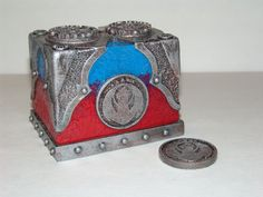 Izzet Guild box Mtg Sleeves, Deck Box, Deck Of Cards, Leather Working, Snow Globes, Steampunk, Coin Purse, Decorative Boxes, Cool Stuff