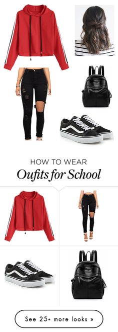 """casual"" by marruth on Polyvore featuring Vans"