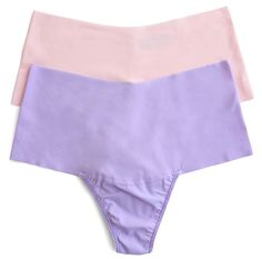 Hanky Panky BARE Godiva High Rise Thong in Bliss Pink and Wisteria