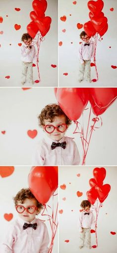 Valentine's Day photo idea for your cute kiddo.