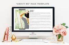 About Me Page Template by @Graphicsauthor
