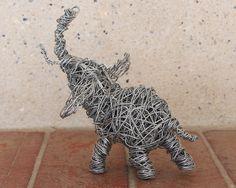 Elephant Art Sculpture Metal Wire Sculpture by africaohafrica