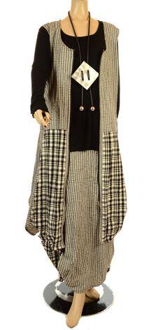 "Hebbeding Summer 2012 Black ""Albizia"" Long Sleeved T-Shirt-Hebbeding, lagenlook, womens plus size UK clothing, ladies plus size lagenlook fashion clothing, plus size coats, plus size dresses, plus size jackets, plus size trousers, plus size skirts, plus size petticoats, plus size blouses, plus size shirts, plus size tops, plus size tunics, lagenlook plus size fashion clothing"
