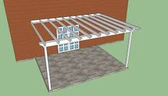 Step by step diy article about attached pergola plans. We show you pergola attached to house plans with a nice design and how to build an attached pergola. Pergola Canopy, Pergola Swing, Metal Pergola, Outdoor Pergola, Backyard Pergola, Pergola Shade, Pergola Plans, Pergola Kits, Pergola Ideas