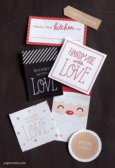 Handmade Gift Labels (Free Printable)   Papercrave.com